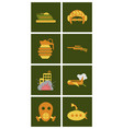 world war line icons minimal pictogram design vector image