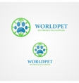 logo footprint of an animal vector image