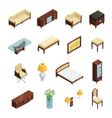 Luxury Interior Isometric Elements vector image