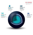 3d circle infographics set element infographic vector image
