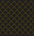 abstract gold border with black grid pattern vector image