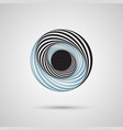 abstract twirl circle design vector image vector image