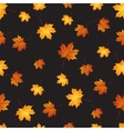 Autumn maple leaves seamless pattern background vector image vector image