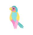beautiful tropical parrot with iridescent plumage vector image vector image