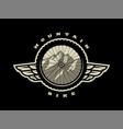 bicycle wheel mountain bike logo t-shirt print vector image vector image