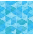 Blue retro textile triangles seamless pattern vector image