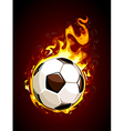 Burning soccer ball vector | Price: 3 Credits (USD $3)