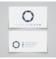 Business card template Camera shutter conceptl vector image vector image