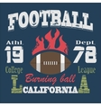 California Sport Typography t-shirt vector image