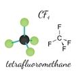 CF4 tetrafluoromethane molecule vector image vector image