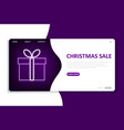 christmas sale landing page website template vector image
