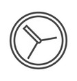 clock thin line icon vector image vector image