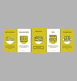 collection public transport onboarding vector image