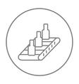 Conveyor belt system line icon vector image vector image