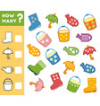 counting game for children count how many items vector image vector image