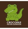 crocodile cute vector image vector image