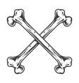 crossed bones in the vintage style vector image vector image