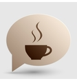 Cup of coffee sign Brown gradient icon on bubble vector image vector image
