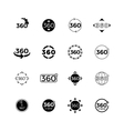 Degrees angle view rotate icons set vector image