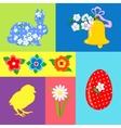 Easter Retro set element vector image vector image