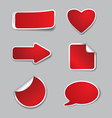 empty stickers vector image vector image