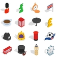 England icons set isometric 3d style vector image vector image