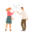 family conflict home violence vector image