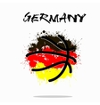 Flag of Germany as an abstract basketball ball vector image