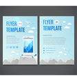 Flyer template with white smartphone