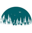 forest symbol with birds vector image
