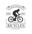 Freeride extreme custom bicycles vintage label