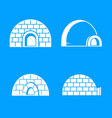 frozen igloo icon set simple style vector image vector image