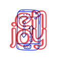 hand draw phone talk icon in doodle style for vector image vector image