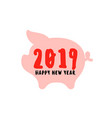 happy chinese new year greeting card with pig vector image