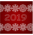 happy new year 2018 design with white christmas vector image