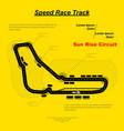 highway motosport circuit vector image vector image