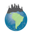 isolated earth icon vector image