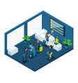 isometric building airport passengers vector image