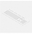 isometric view white pc keyboard personal vector image vector image