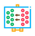 layout rugplayers icon outline vector image