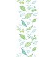 lineart spring leaves vertical border vector image