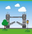 london tower bridge street lamp tree landmark vector image