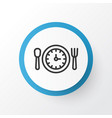lunch time icon symbol premium quality isolated vector image