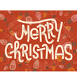 Merry Christmas lettering Vintage greeting card vector image vector image