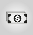 money icon dollar and cash coin currency bank vector image vector image