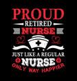 nurse t shirt design vintage nurse emblems vector image vector image