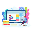 online lesson webinar seminar courses on the vector image vector image