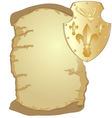 Parchment and shield vector image vector image
