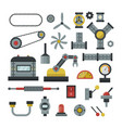 Part of machinery manufacturing work detail gear vector image
