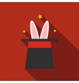 Rabbit in magician hat icon vector image vector image